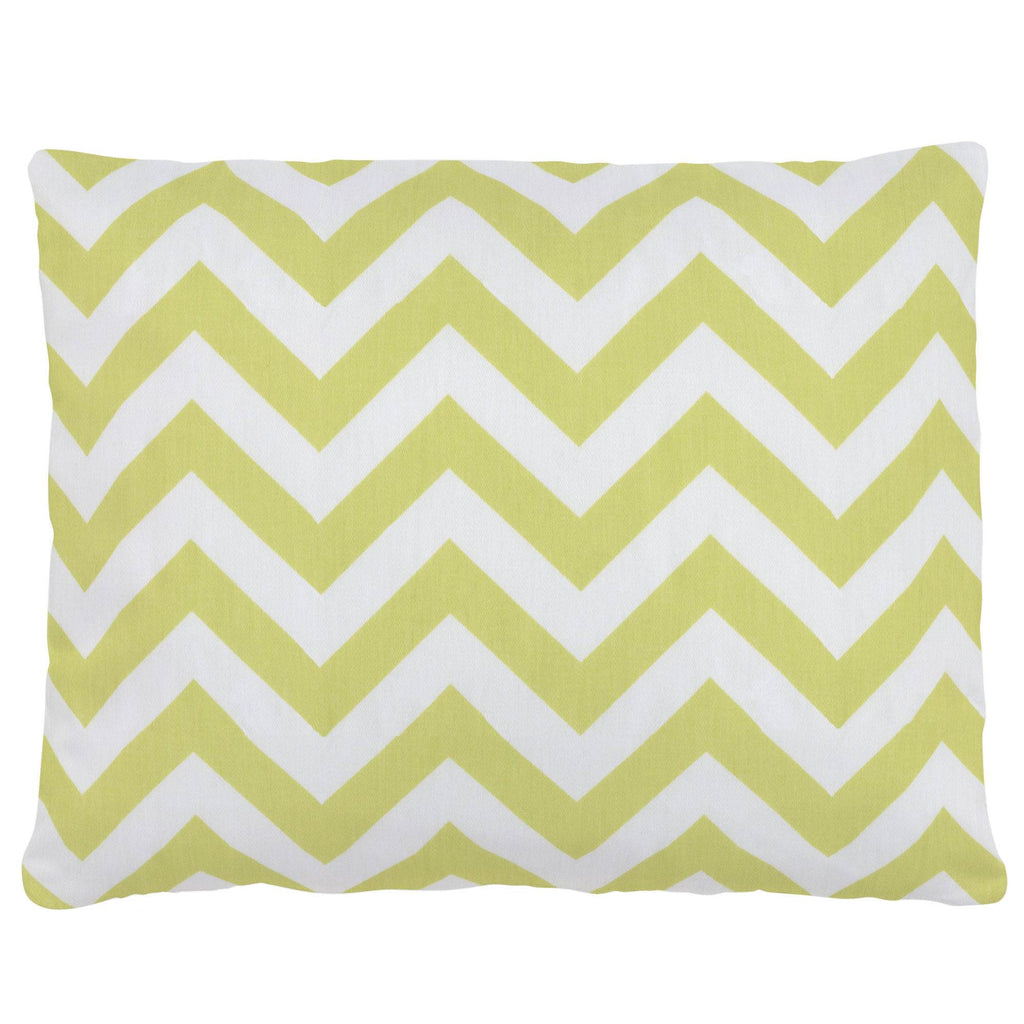 Product image for Light Lime Zig Zag Accent Pillow