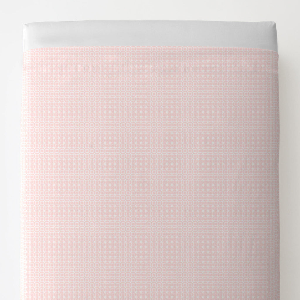 Product image for Pink Circles Toddler Sheet Top Flat