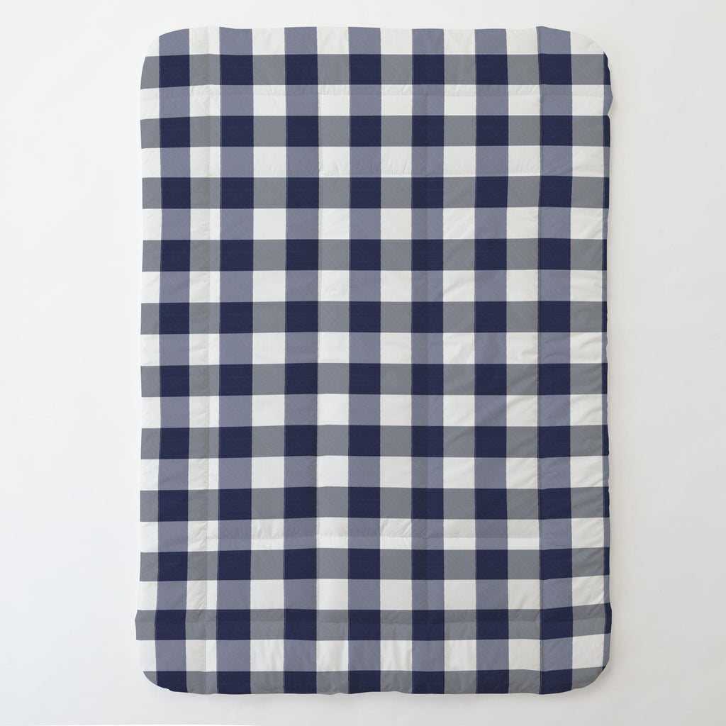 Product image for Navy and White Buffalo Check Toddler Comforter