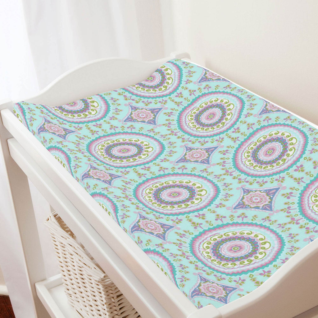 Product image for Aqua Haute Circles Changing Pad Cover