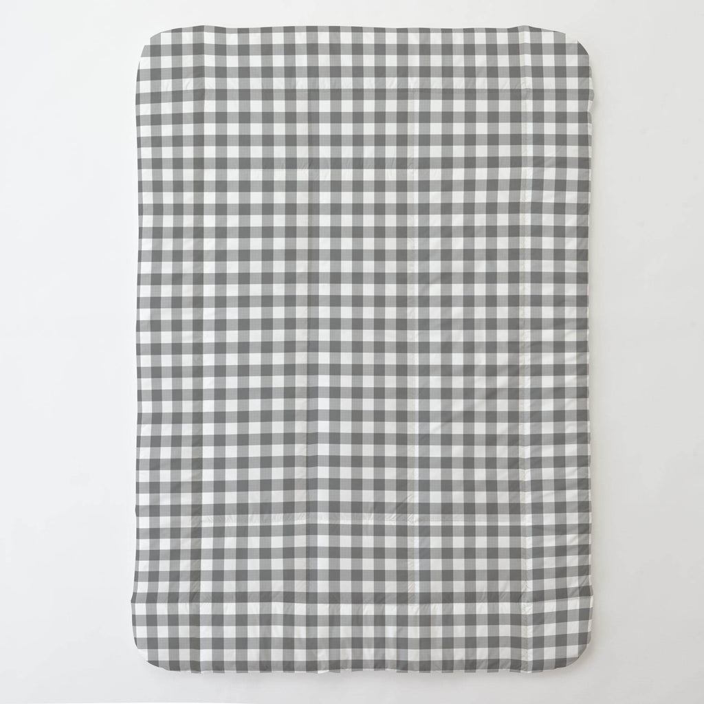 Product image for Gray Gingham Toddler Comforter