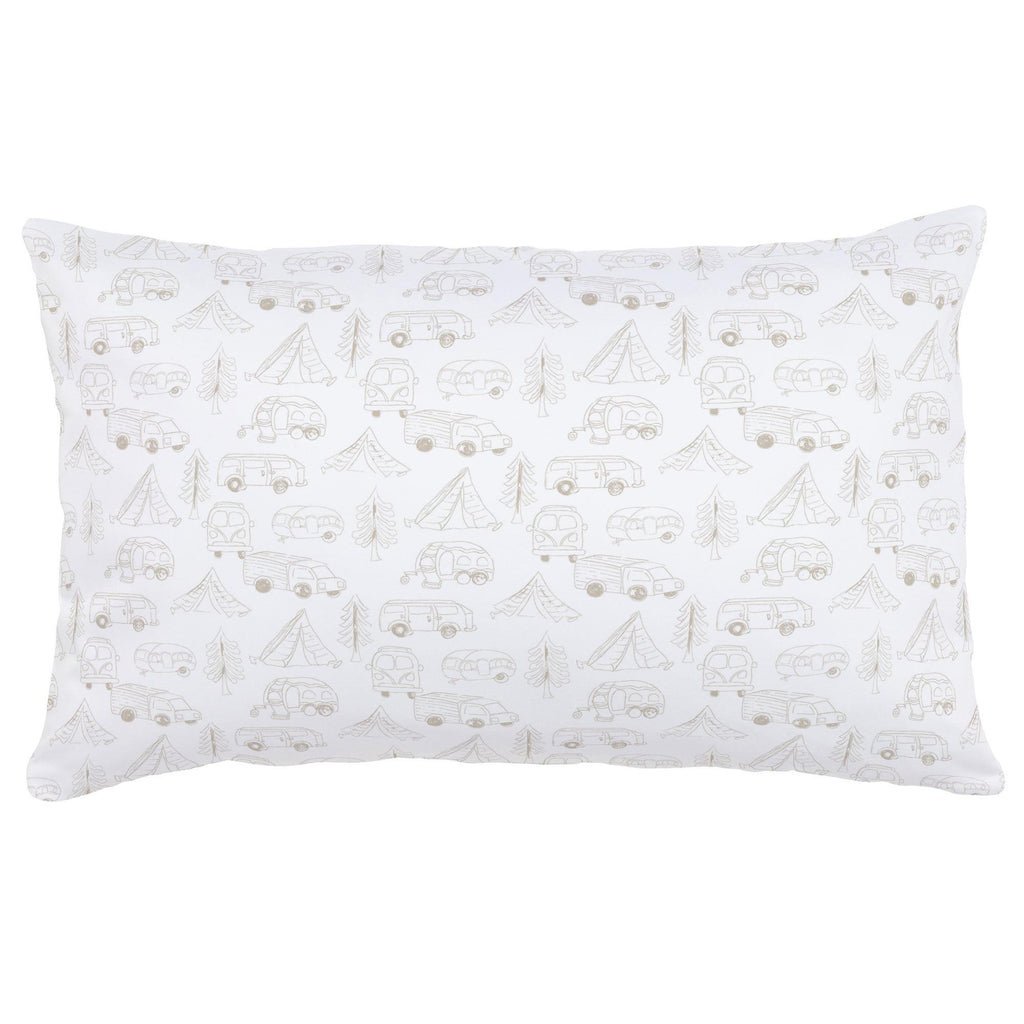 Product image for Taupe Little Campers Lumbar Pillow