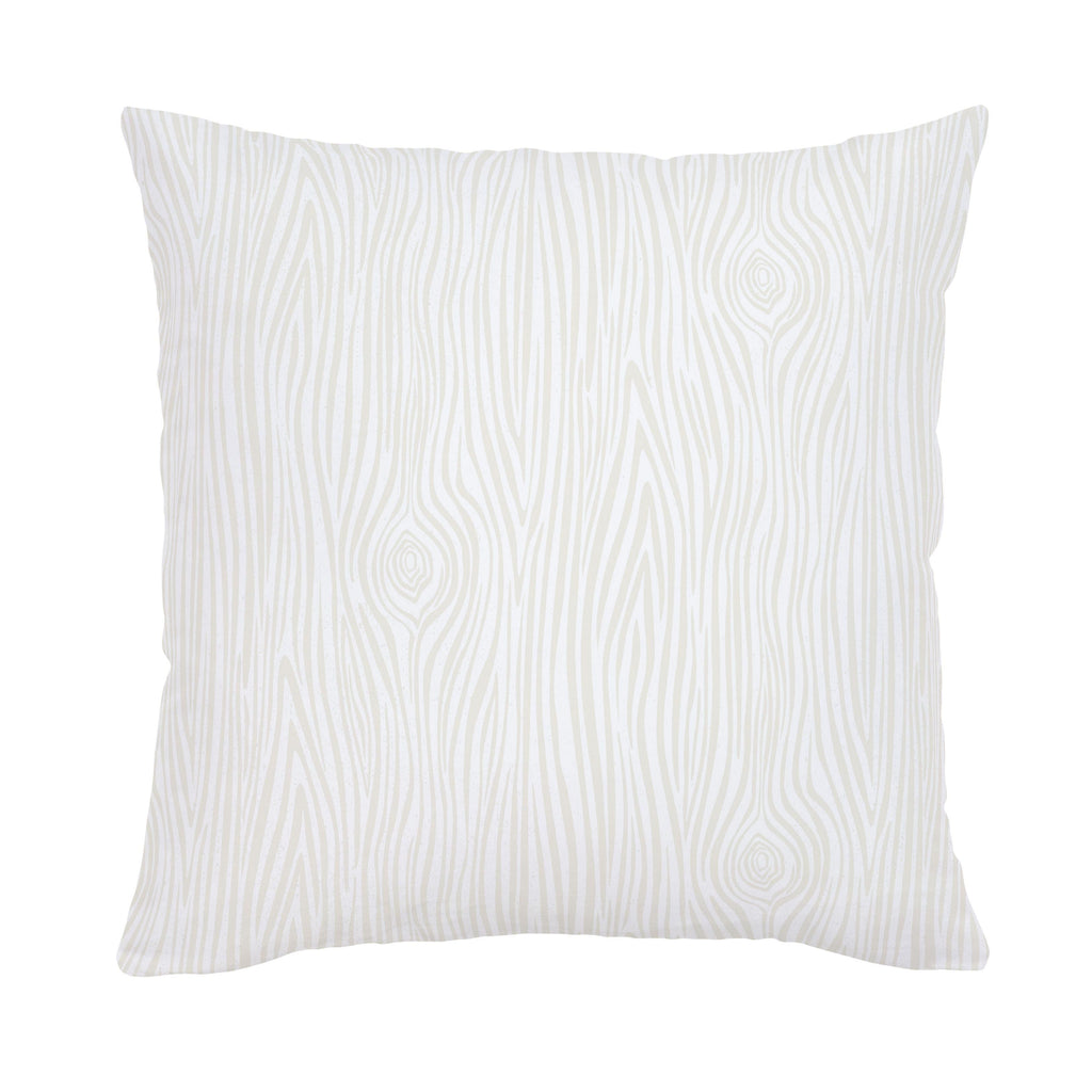 Product image for Ivory Woodgrain Throw Pillow