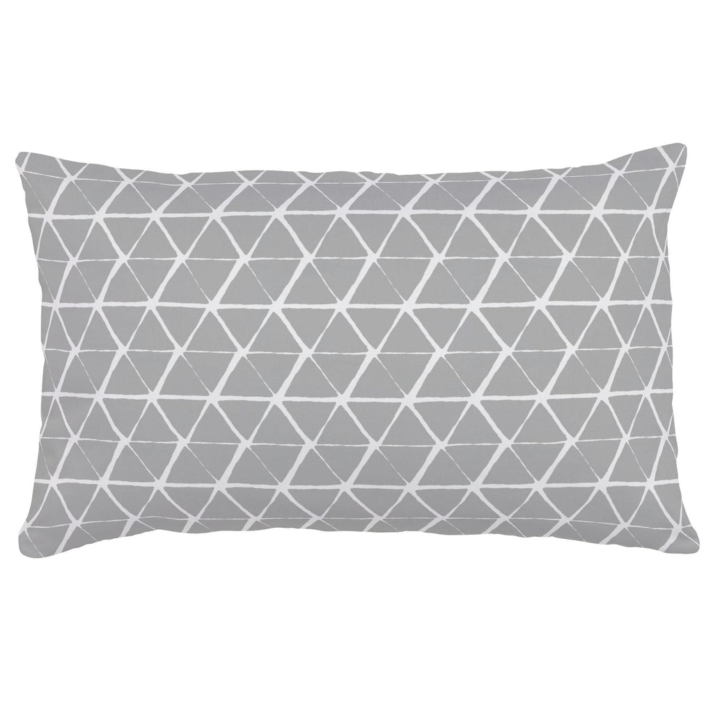 Product image for Gray Aztec Triangles Lumbar Pillow