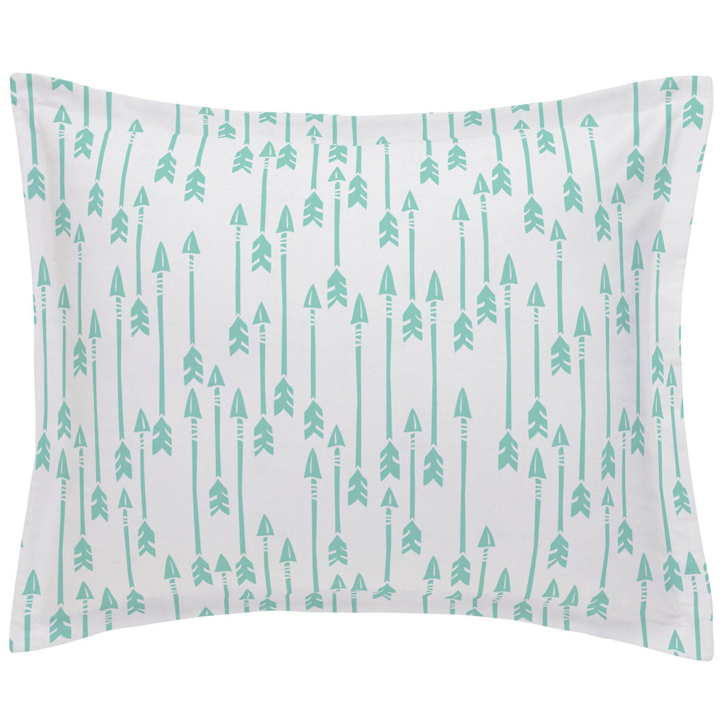 Product image for Mint Flying Arrow Pillow Sham
