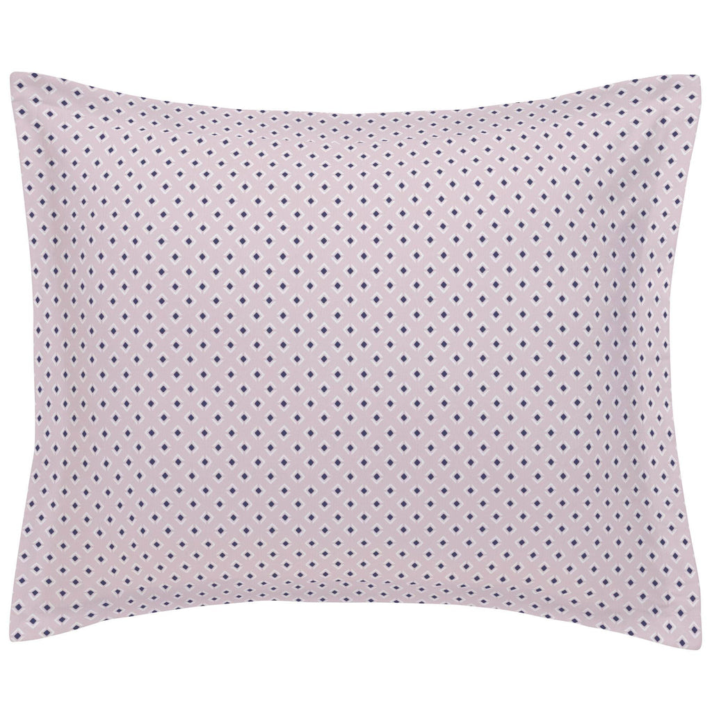 Product image for Pink and Navy Diamond Pillow Sham