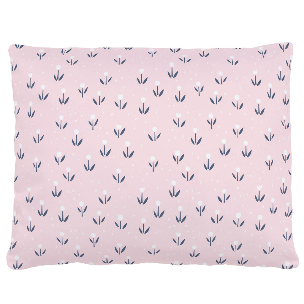 Product image for Pink Baby Woodland Flowers Accent Pillow
