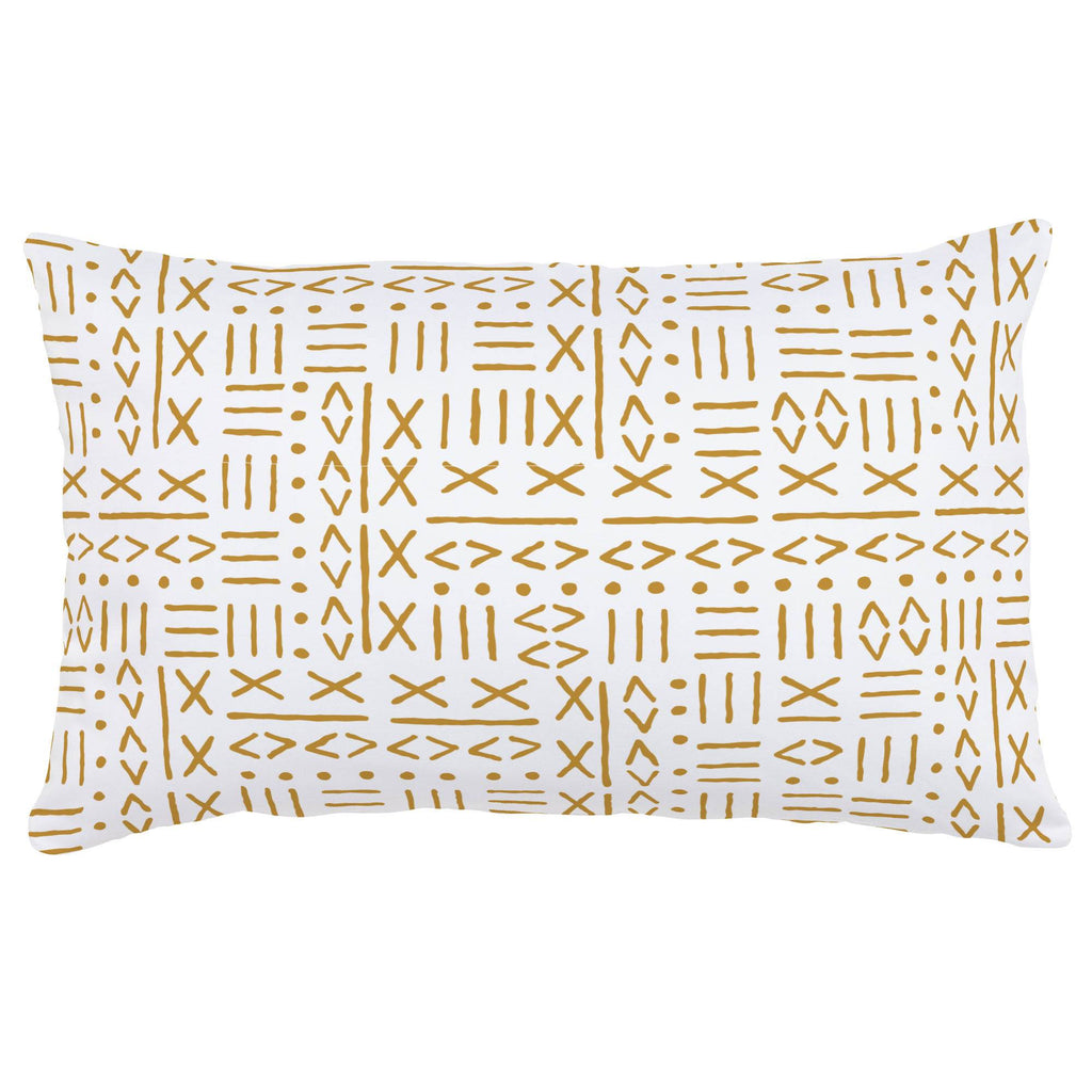 Product image for Mustard Mudcloth Lumbar Pillow