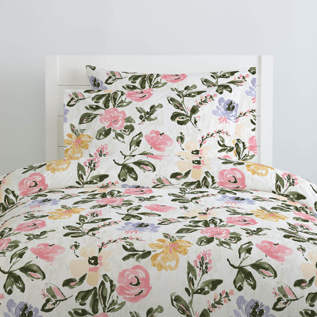 Product image for Coral Pink Garden Duvet Cover