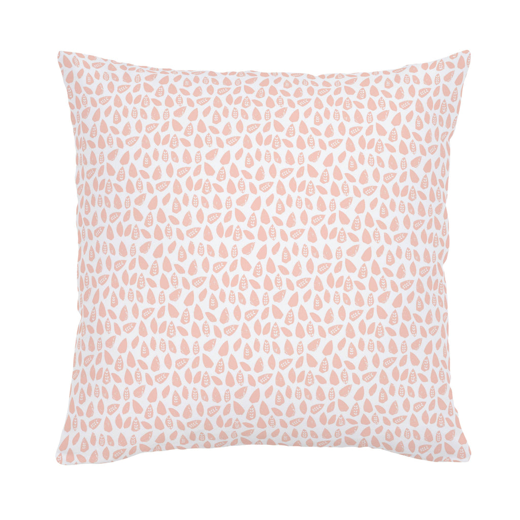 Product image for Peach Woodland Leaf Throw Pillow