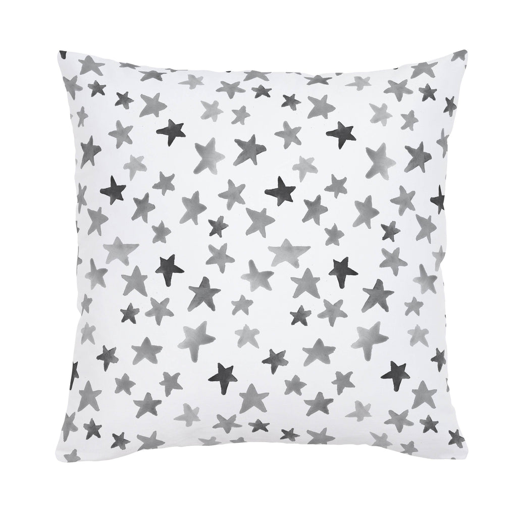Product image for Gray Watercolor Stars Throw Pillow