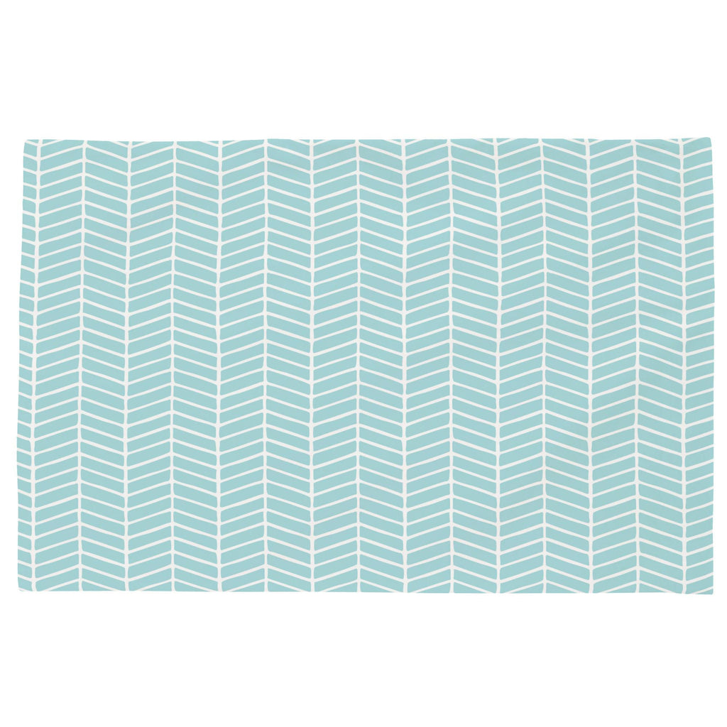 Product image for Seafoam Aqua Herringbone Toddler Pillow Case