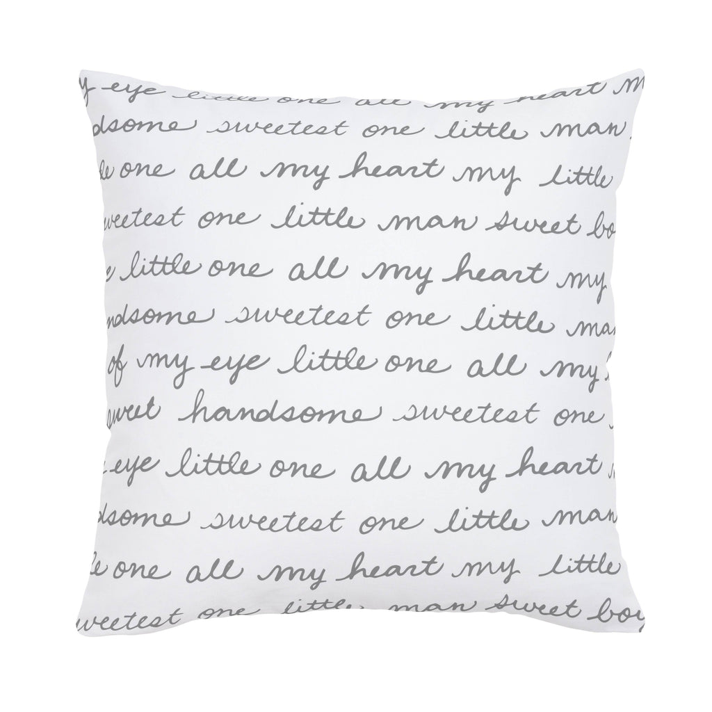 Product image for Cloud Gray Sweet Boy Throw Pillow