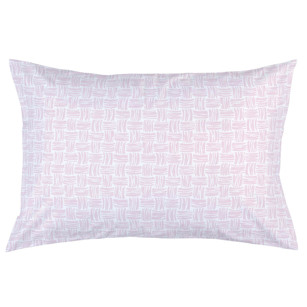 Product image for Pink Basket Weave Pillow Case