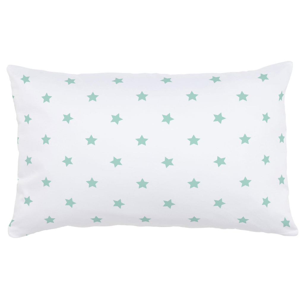 Product image for Mint Stars Lumbar Pillow