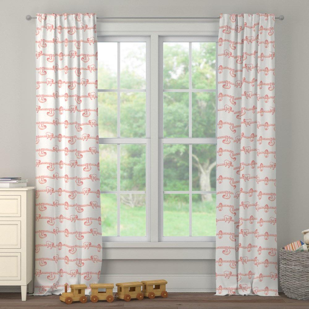 Product image for Coral Sloth Drape Panel