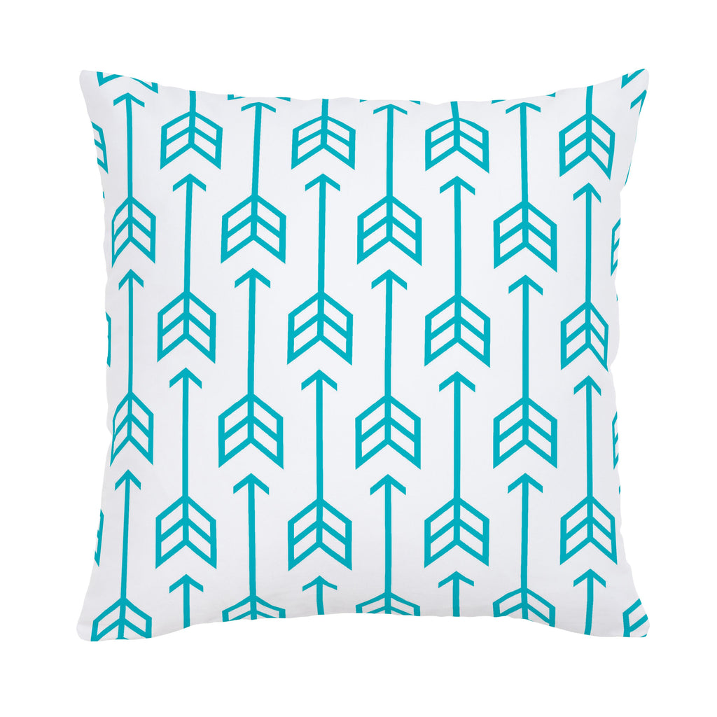 Product image for Teal Arrow Throw Pillow