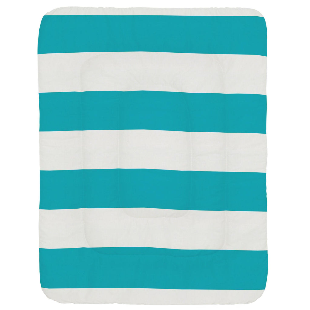 Product image for Teal Horizontal Stripe Crib Comforter