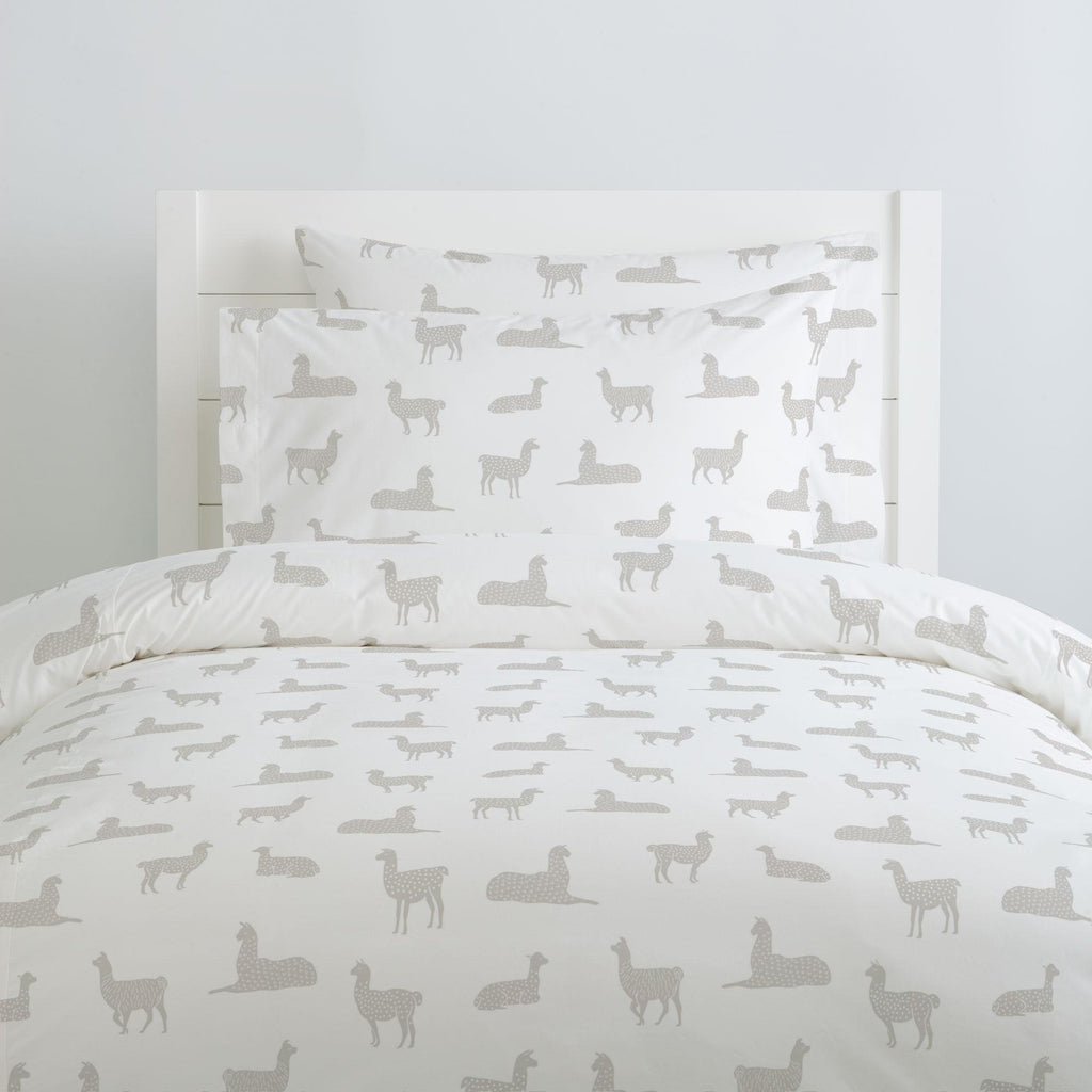 Product image for French Gray Llamas Duvet Cover
