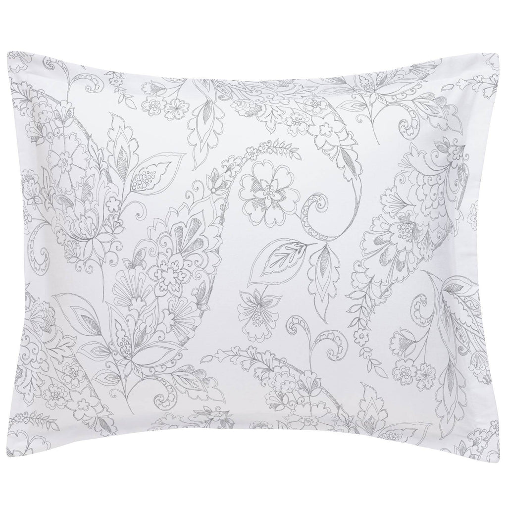 Product image for Cloud Gray Sketchbook Floral Pillow Sham