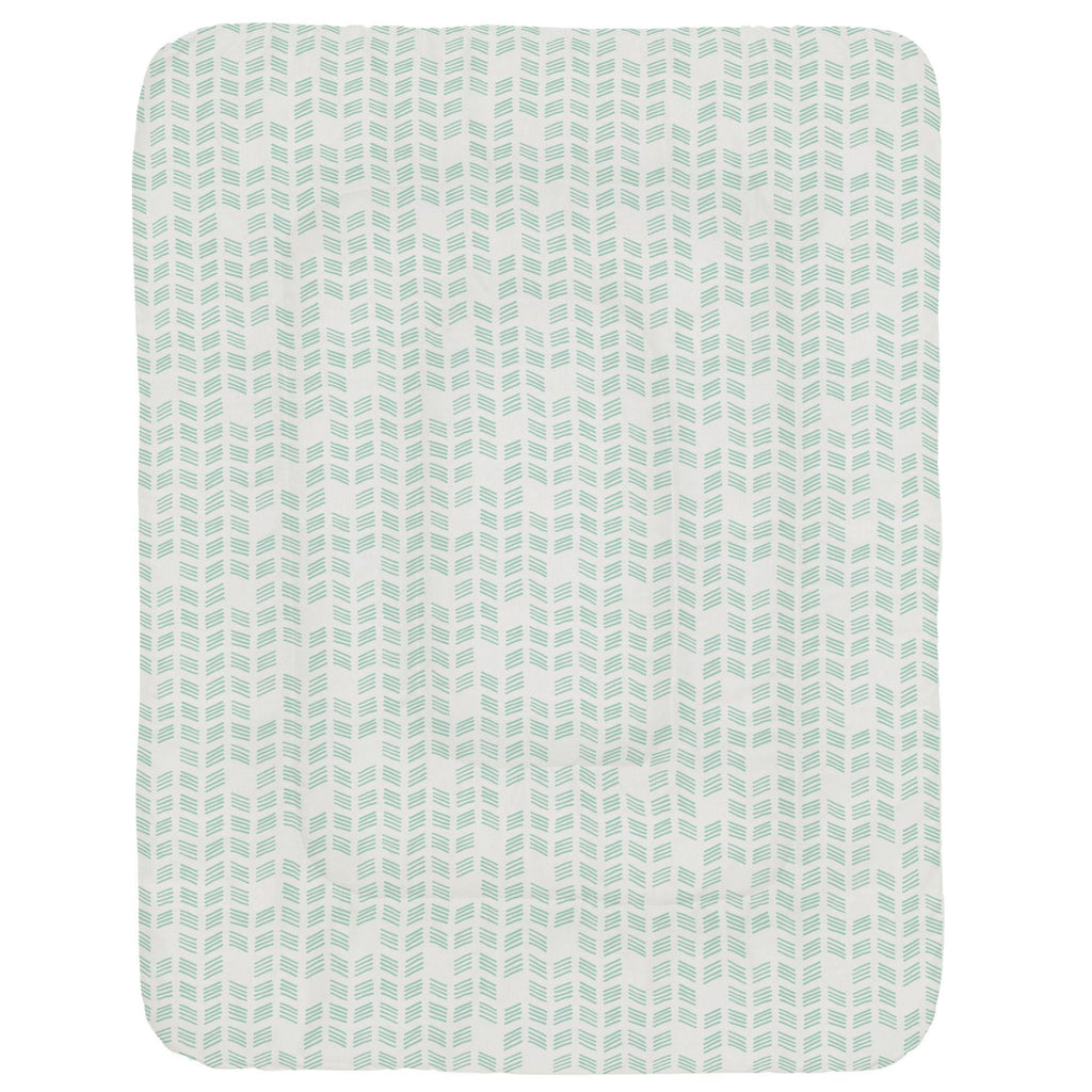 Product image for Mint Tribal Herringbone Crib Comforter