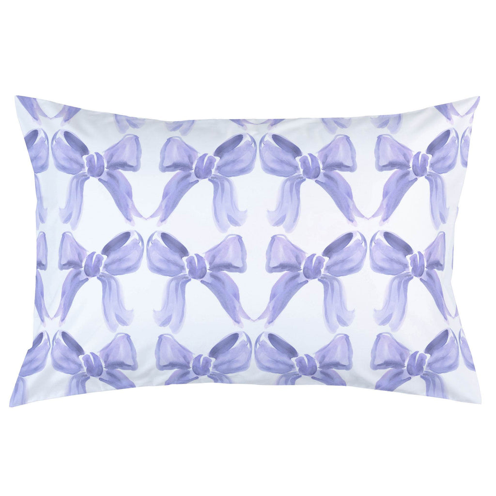 Product image for Lilac Watercolor Bows Pillow Case