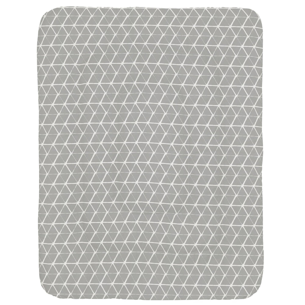 Product image for Gray Aztec Triangles Crib Comforter