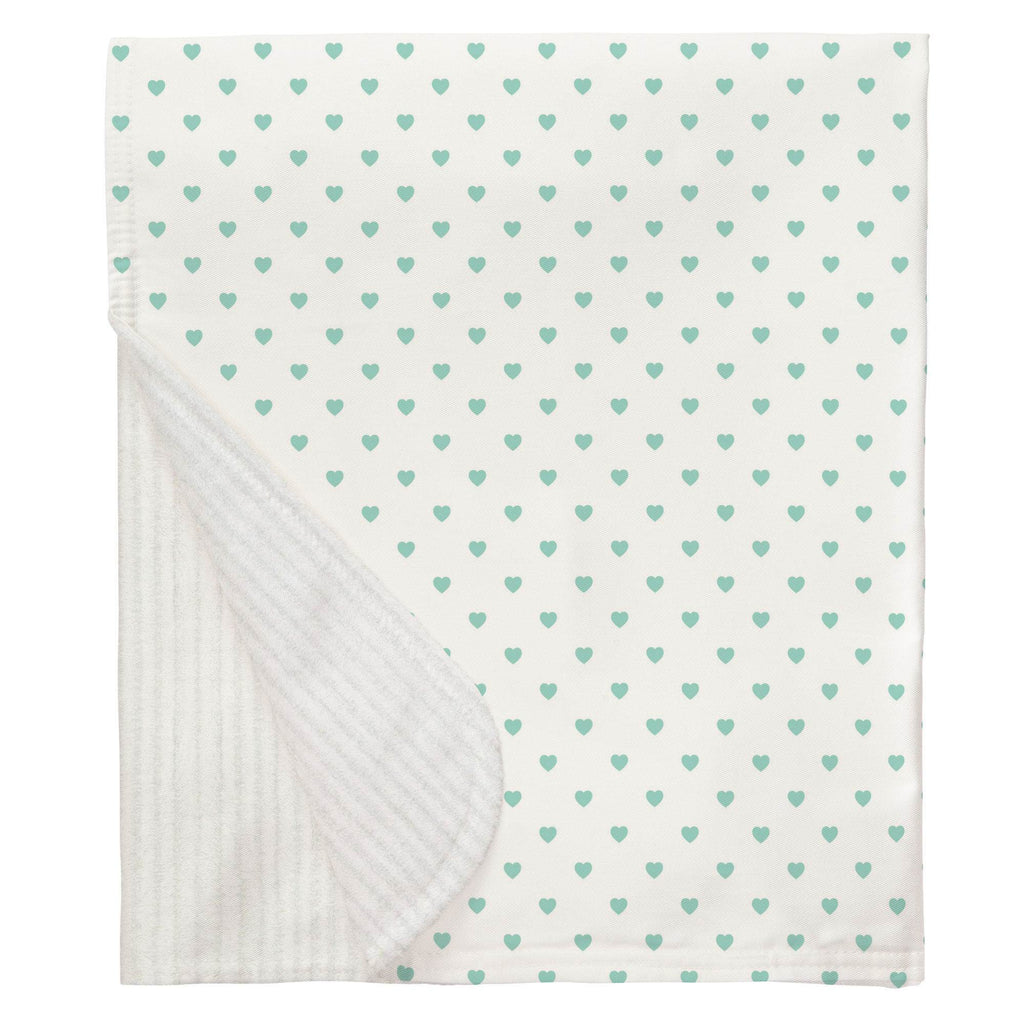 Product image for Mint Hearts Baby Blanket
