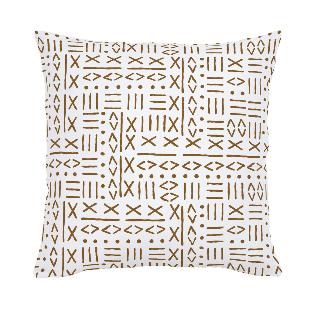 Product image for Caramel Mudcloth Throw Pillow
