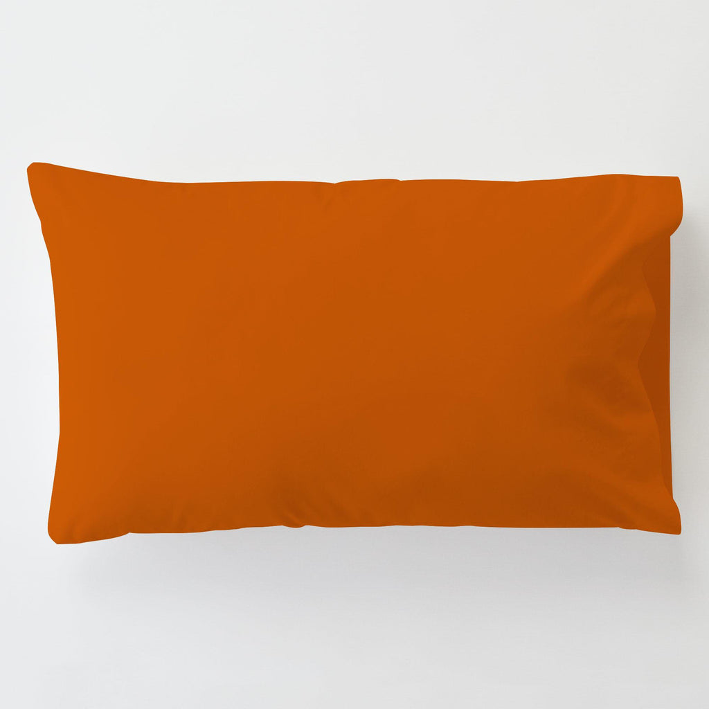 Product image for Solid Orange Toddler Pillow Case with Pillow Insert