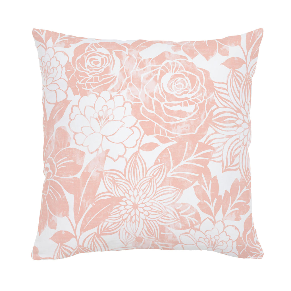 Product image for Peach Modern Blooms Throw Pillow