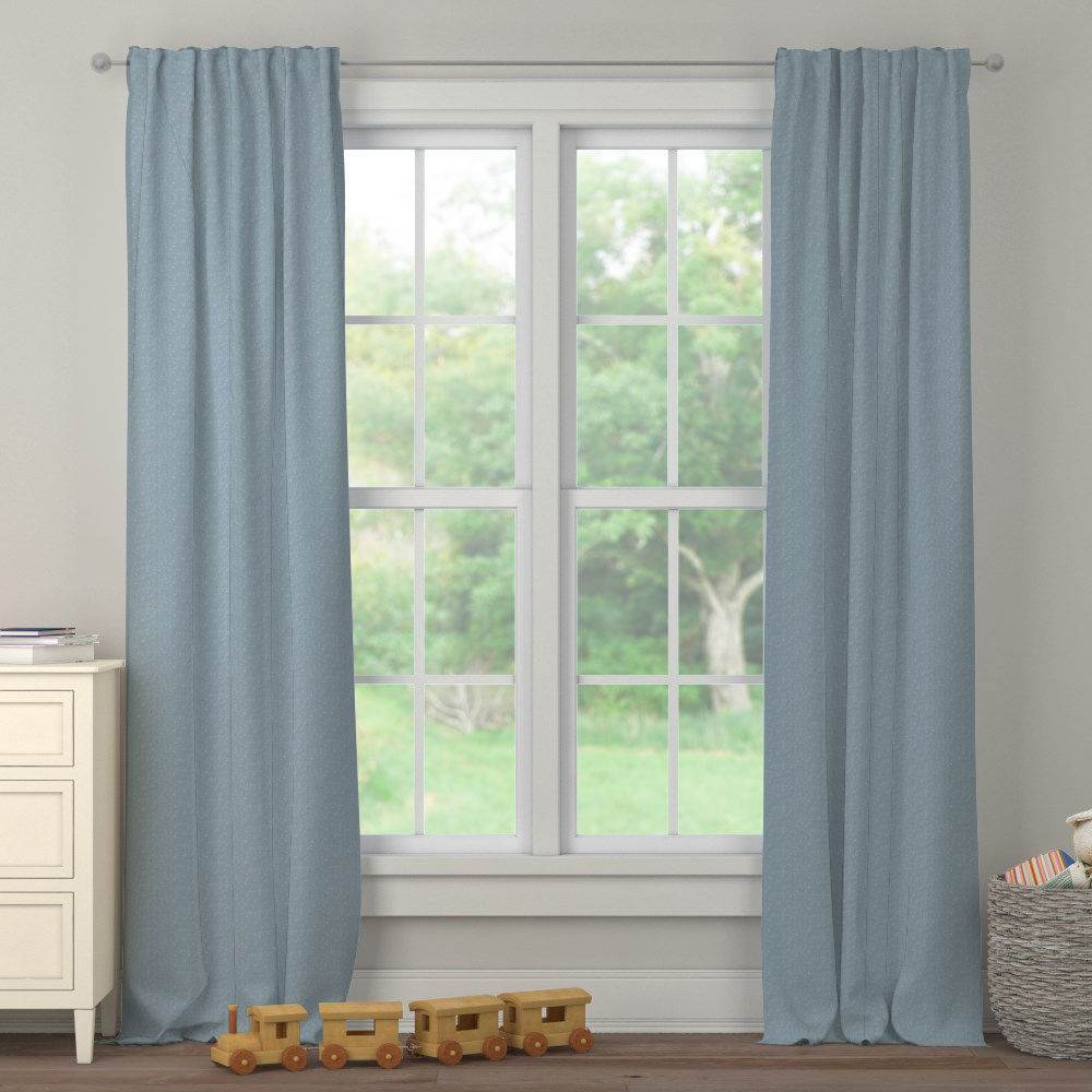 Product image for Steel Blue Heather Drape Panel