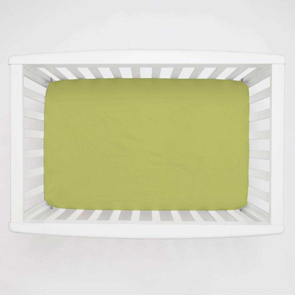 Product image for Solid Citron Mini Crib Sheet