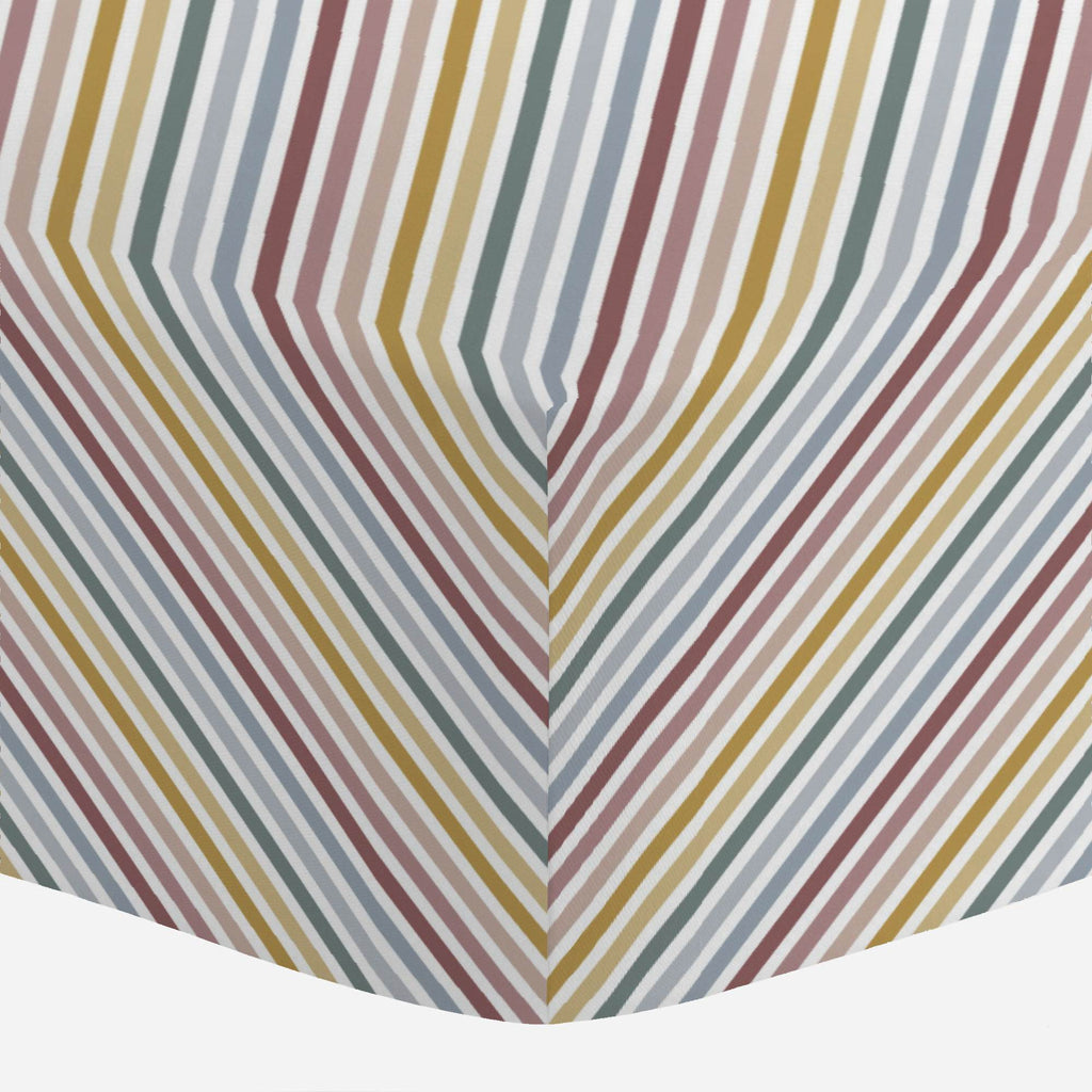 Product image for Soft Rainbow Stripe Crib Sheet