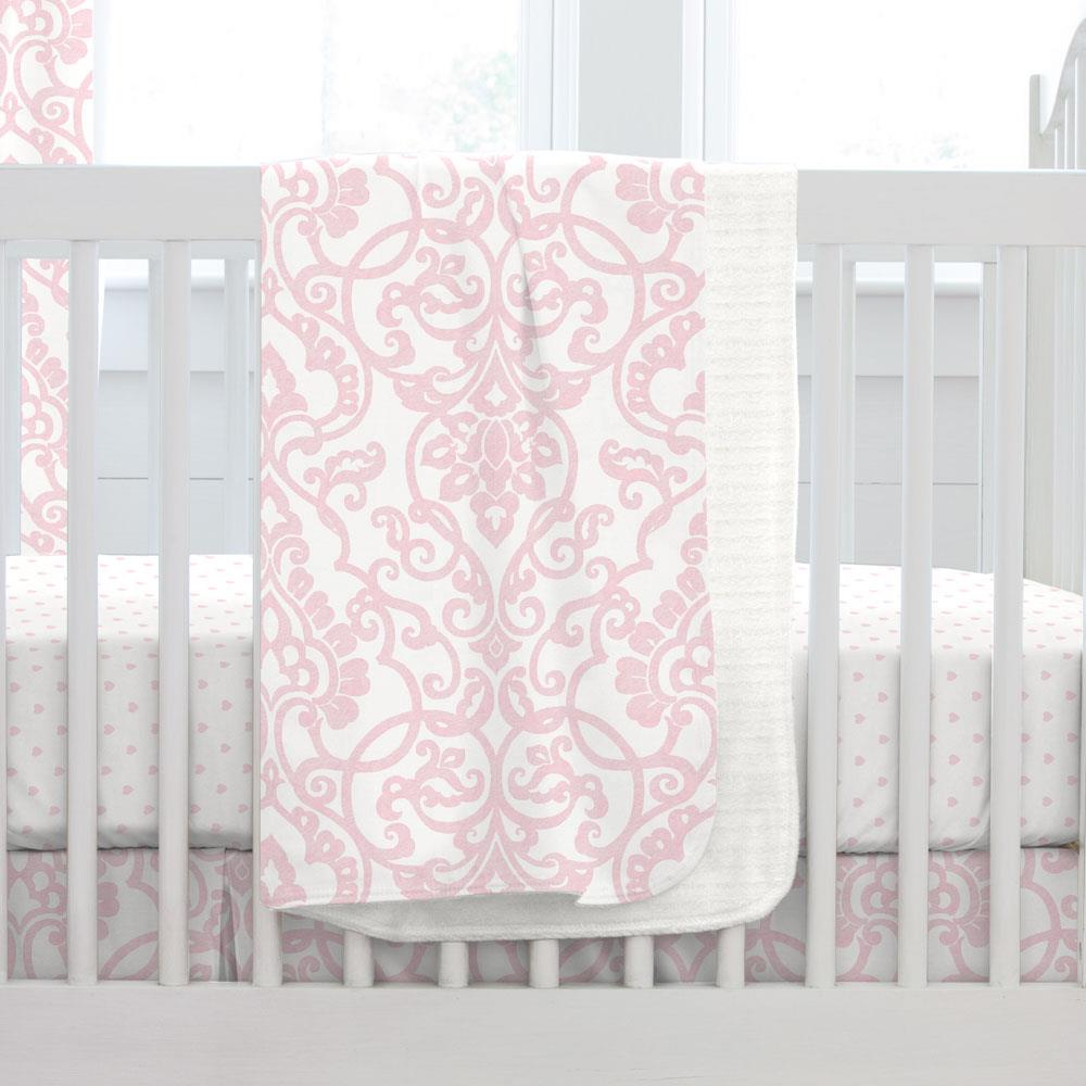 Product image for Pink Filigree Baby Blanket