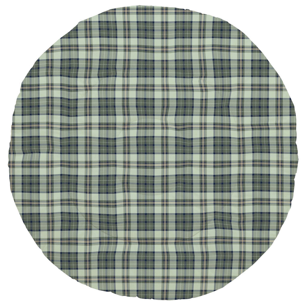 Product image for Navy and Seafoam Plaid Baby Play Mat