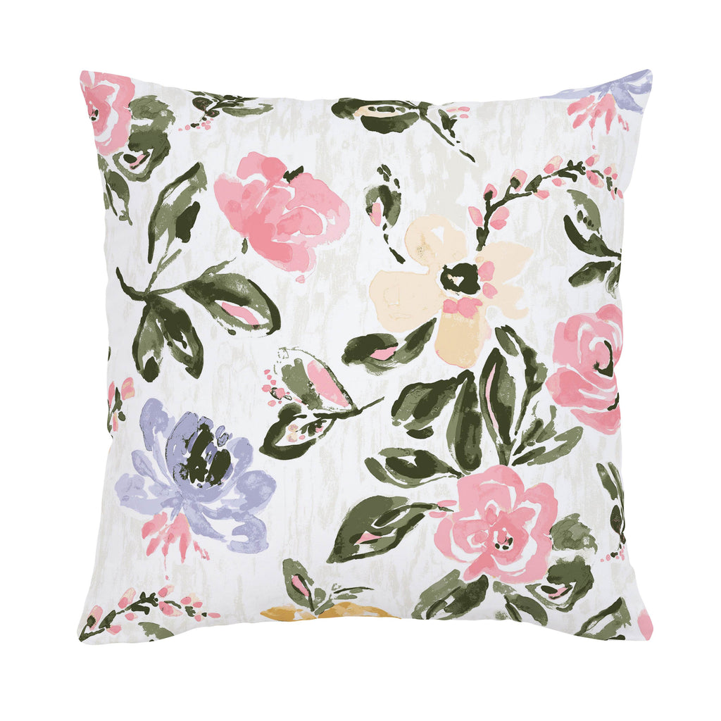 Product image for Coral Pink Garden Throw Pillow