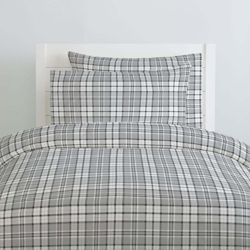 Product image for Gray Plaid Duvet Cover