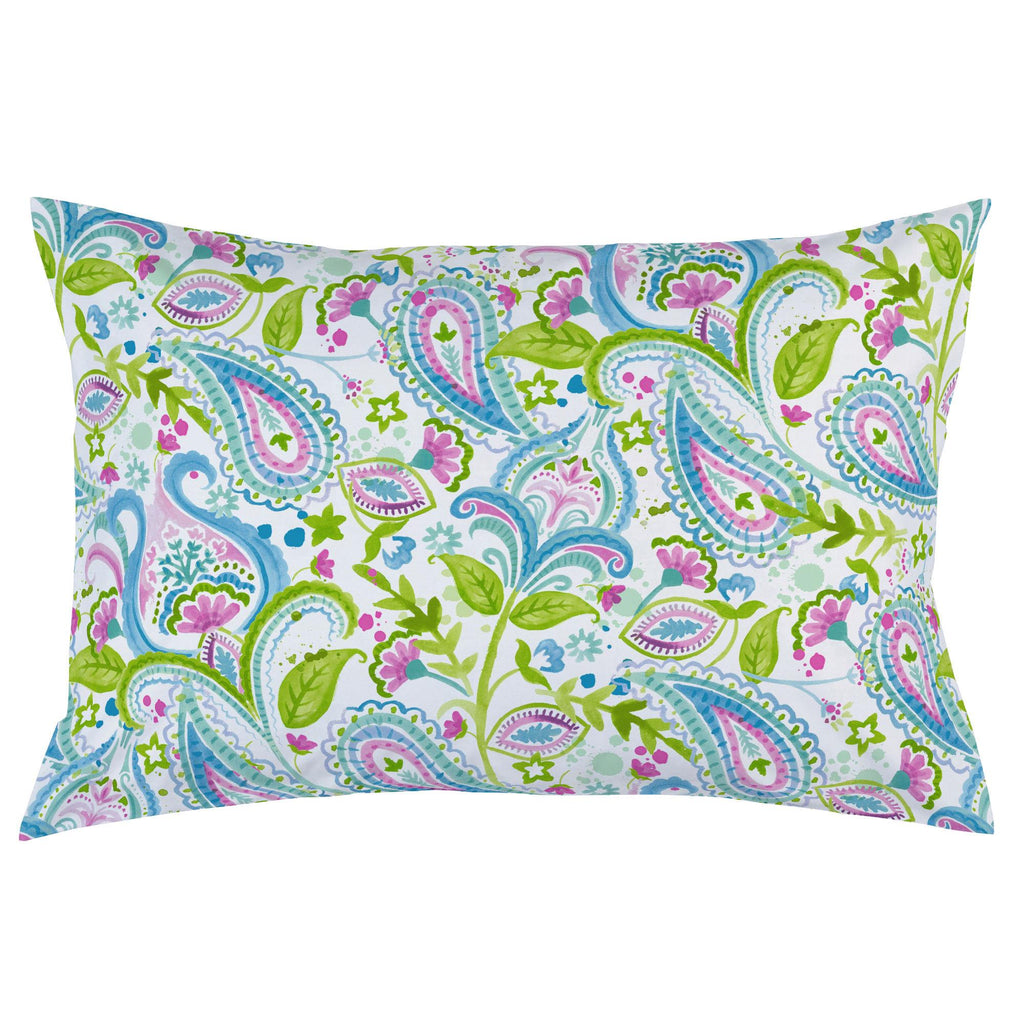 Product image for Orchid Painted Paisley Pillow Case