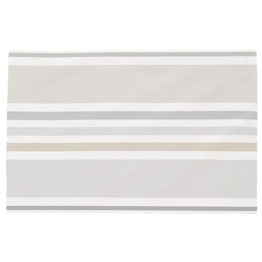 Product image for French Gray and Taupe Summer Stripe Toddler Pillow Case