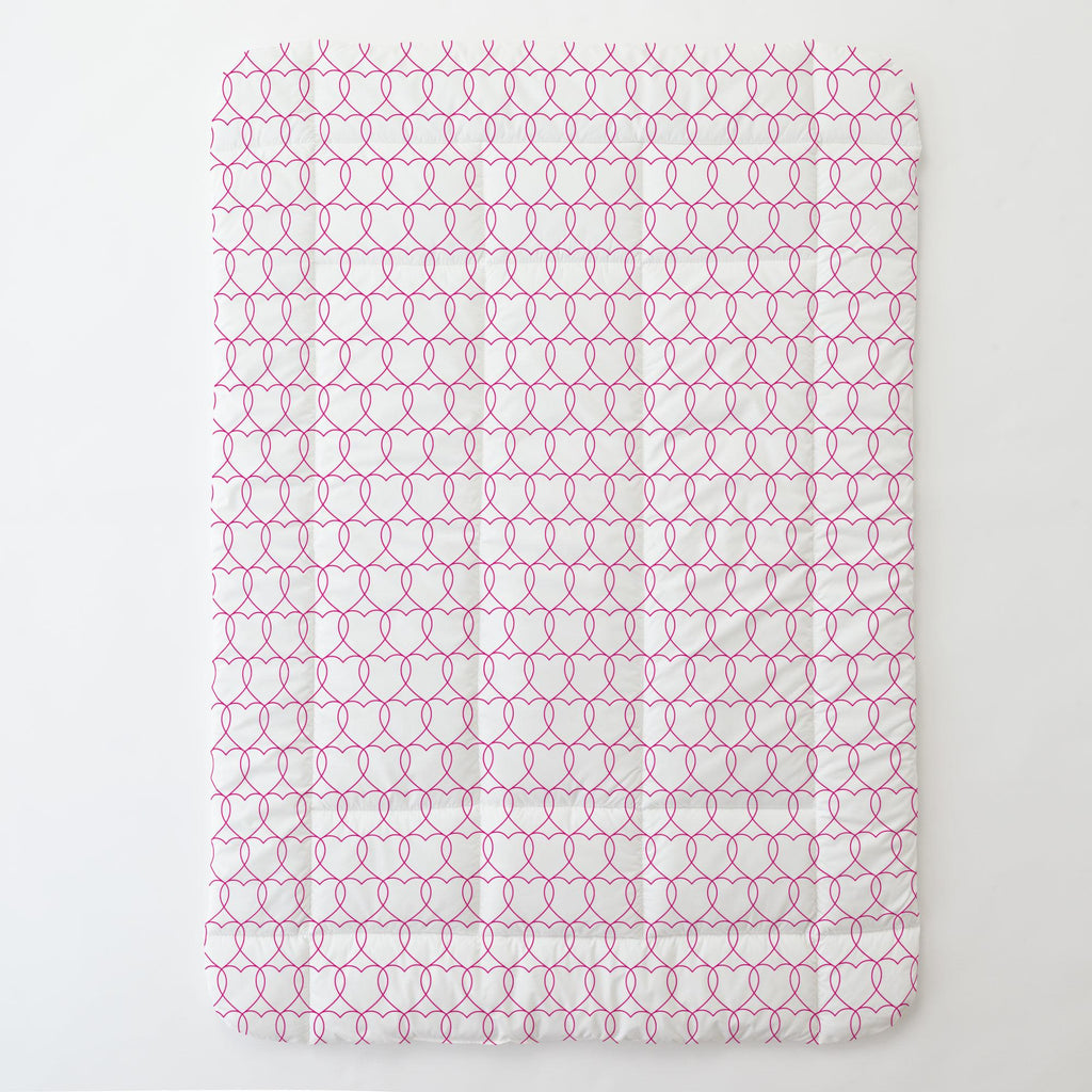 Product image for Fuchsia Sweetheart Toddler Comforter