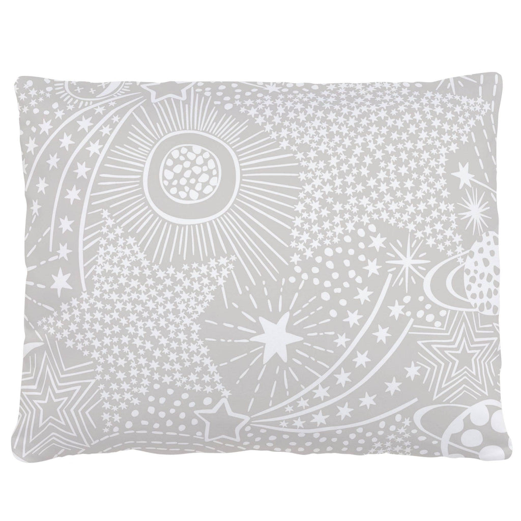Product image for French Gray and White Galaxy Accent Pillow