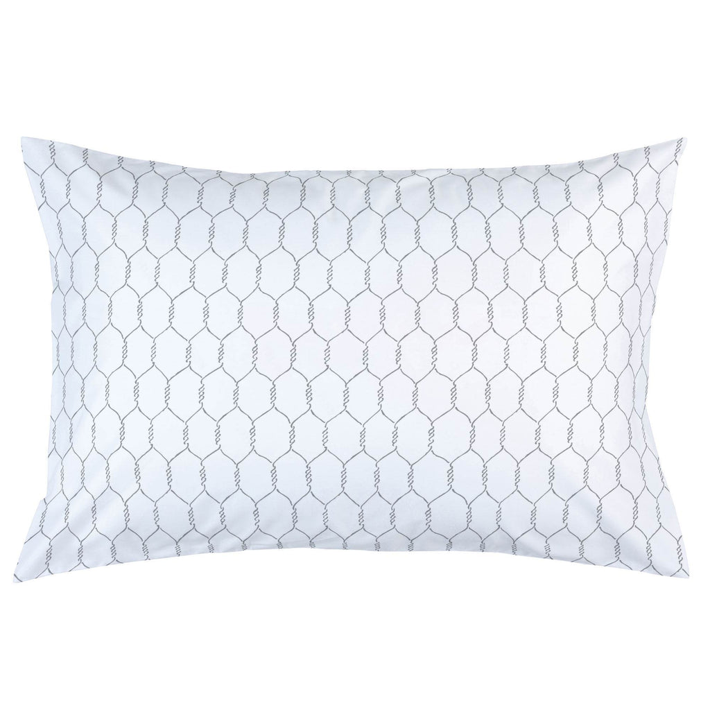 Product image for Gray Farmhouse Wire Pillow Case