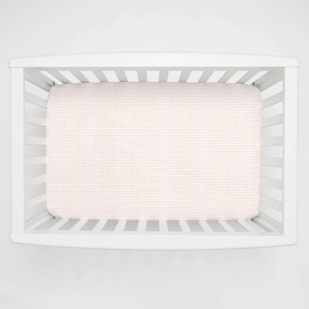 Product image for Peach Woodland Meadow Mini Crib Sheet