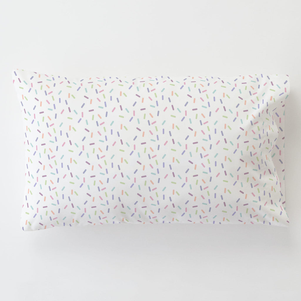 Product image for Pastel Sprinkles Toddler Pillow Case with Pillow Insert