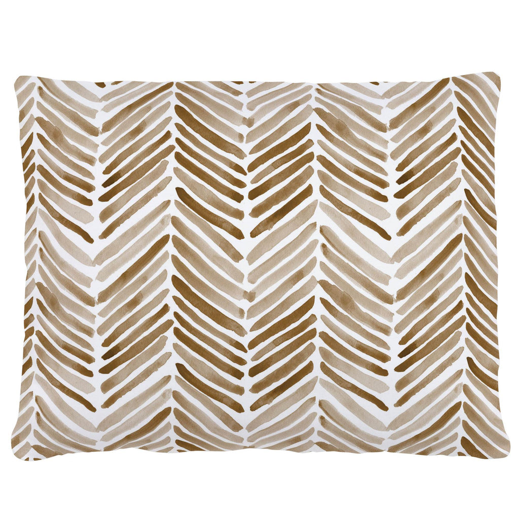 Product image for Caramel Painted Chevron Accent Pillow