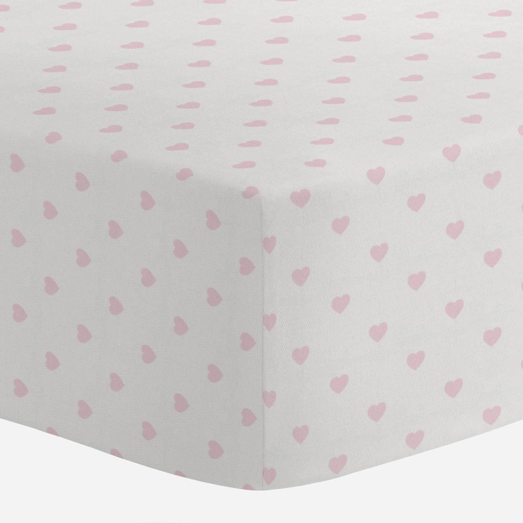 Product image for Pink Hearts Crib Sheet