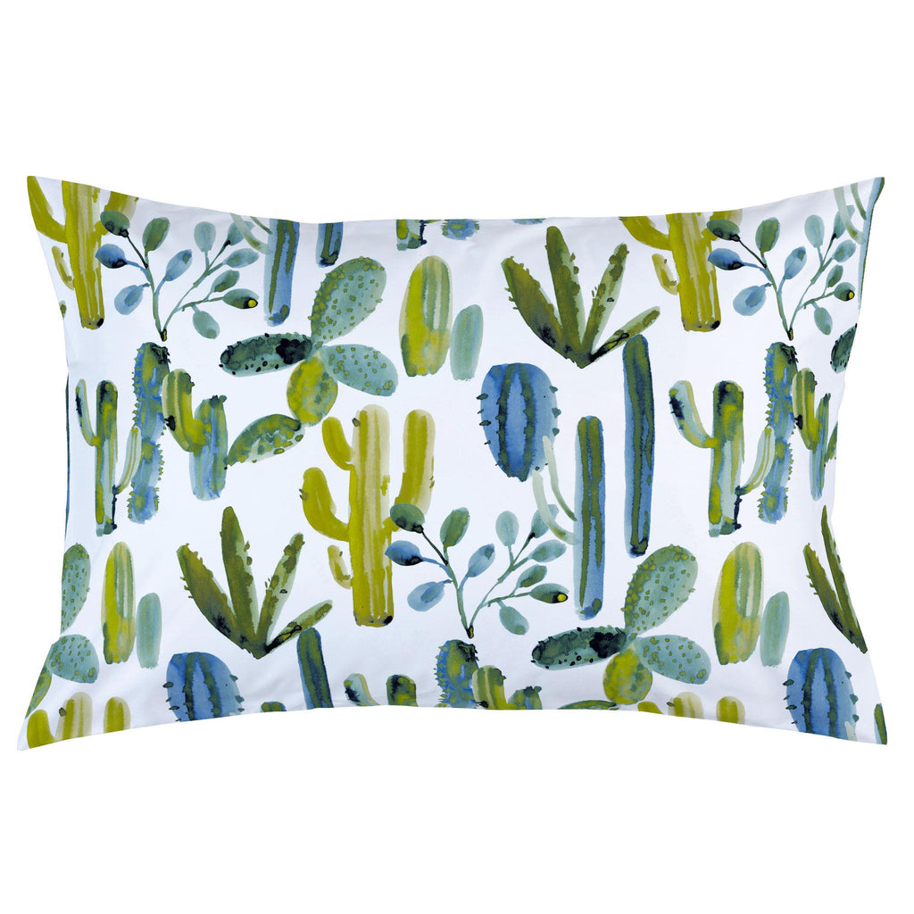 Product image for Blue Painted Cactus Pillow Case
