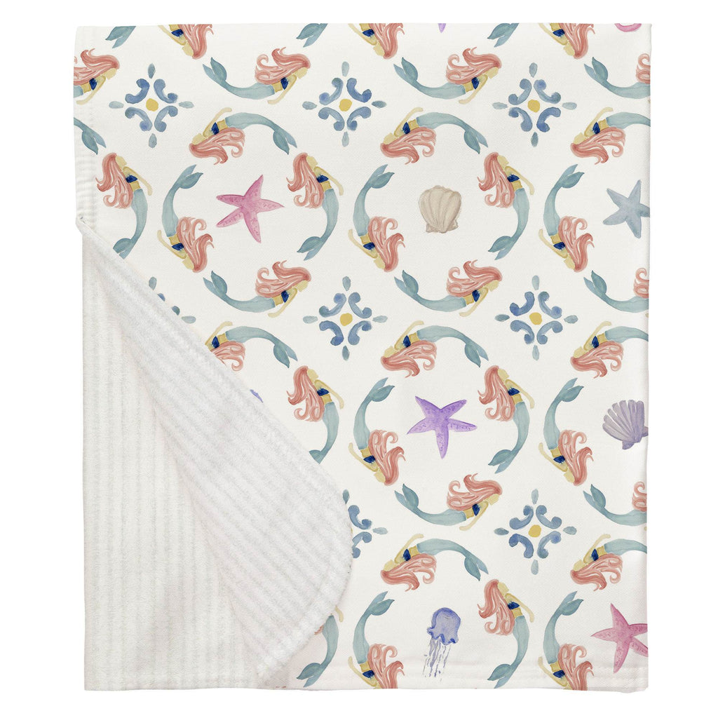 Product image for Mermaid Medallion Baby Blanket