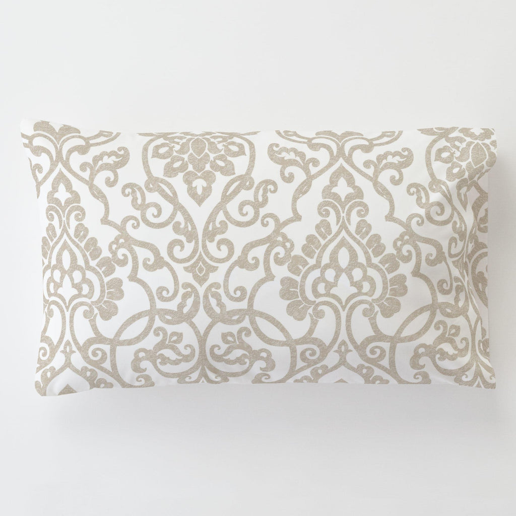 Product image for Taupe Filigree Toddler Pillow Case with Pillow Insert